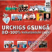 Urchigs gsungä - 80x 100% Volkstümlichi Liedli (4CD-Box)